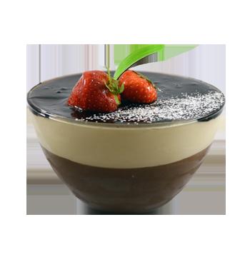 chocolate and caramel cream bowl