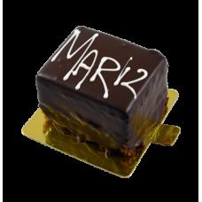 full chocolate signature pastry cake piece