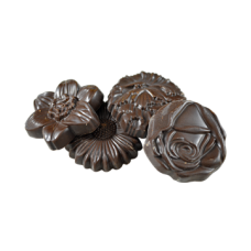 dark chocolate flower