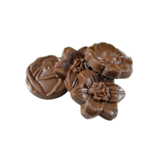 milk chocolate flower