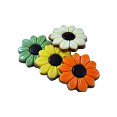 colorful milk chocolate flowers