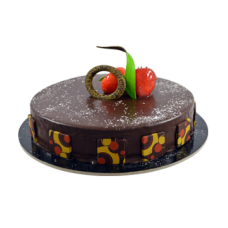 full chocolate pastry cake